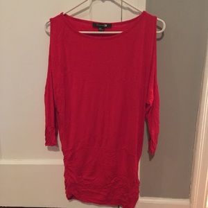 Sexy Red Women's Cold Shoulder Forever21 Dress